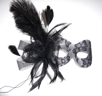 Burlesque style masquerade lace mask
